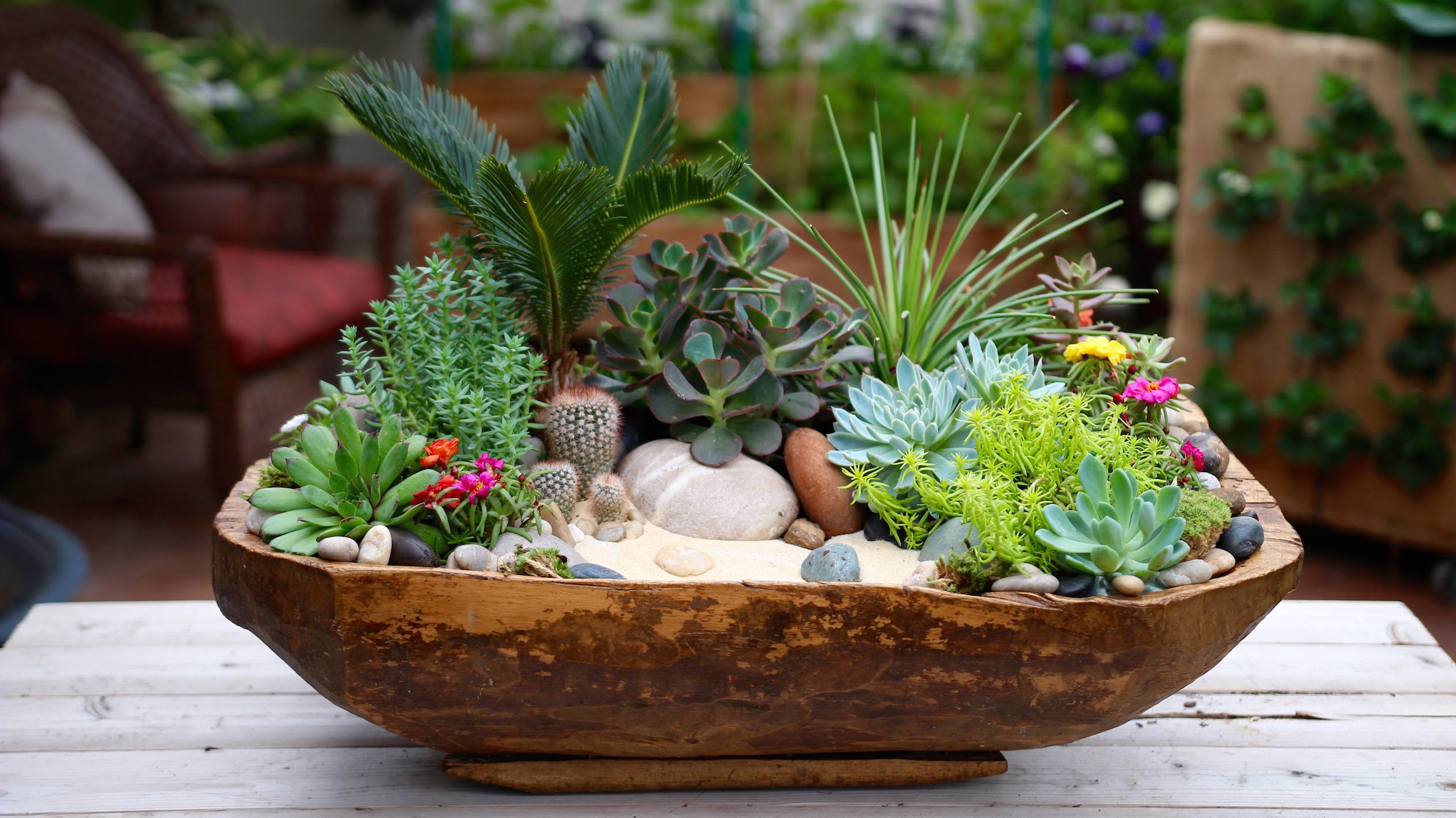 [VIDEO] CRACKED BOWL TURNED SUCCULENT PLANTER