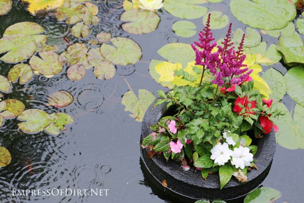 CREATE THIS EASY FLOATING POND PLANTER